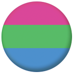Polysexual Pride Flag 25mm Button Badge